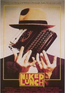 """Cartel alemán de la película de David Cronenberg """"El almuerzo desnudo"""""""