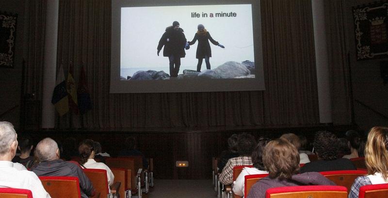 """Un momento de """"Mayores sin reparos"""" proyectada en la edición del año 2012"""
