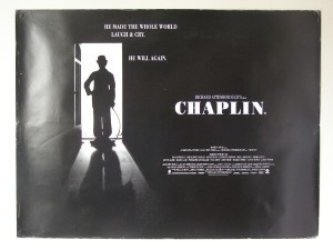"Poster de la película ""Chaplin"" (1992) de Richard Attenborough"