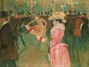 En el Moulin Rouge (1890) de Henri de Toulouse-Lautrec