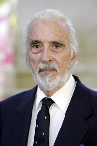 "LONDON - JULY 17:  (UK TABLOID NEWSPAPERS OUT) Actor Christopher Lee arrives at the UK Premiere of ""Charlie And The Chocolate Factory"" at the Odeon Leicester Square on July 17, 2005 in London, England.  (Photo by Dave Hogan/Getty Images)"
